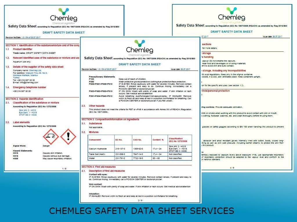 Güvenlik Bilgi Formları Yönetmeliği için Kısa Bilgiler