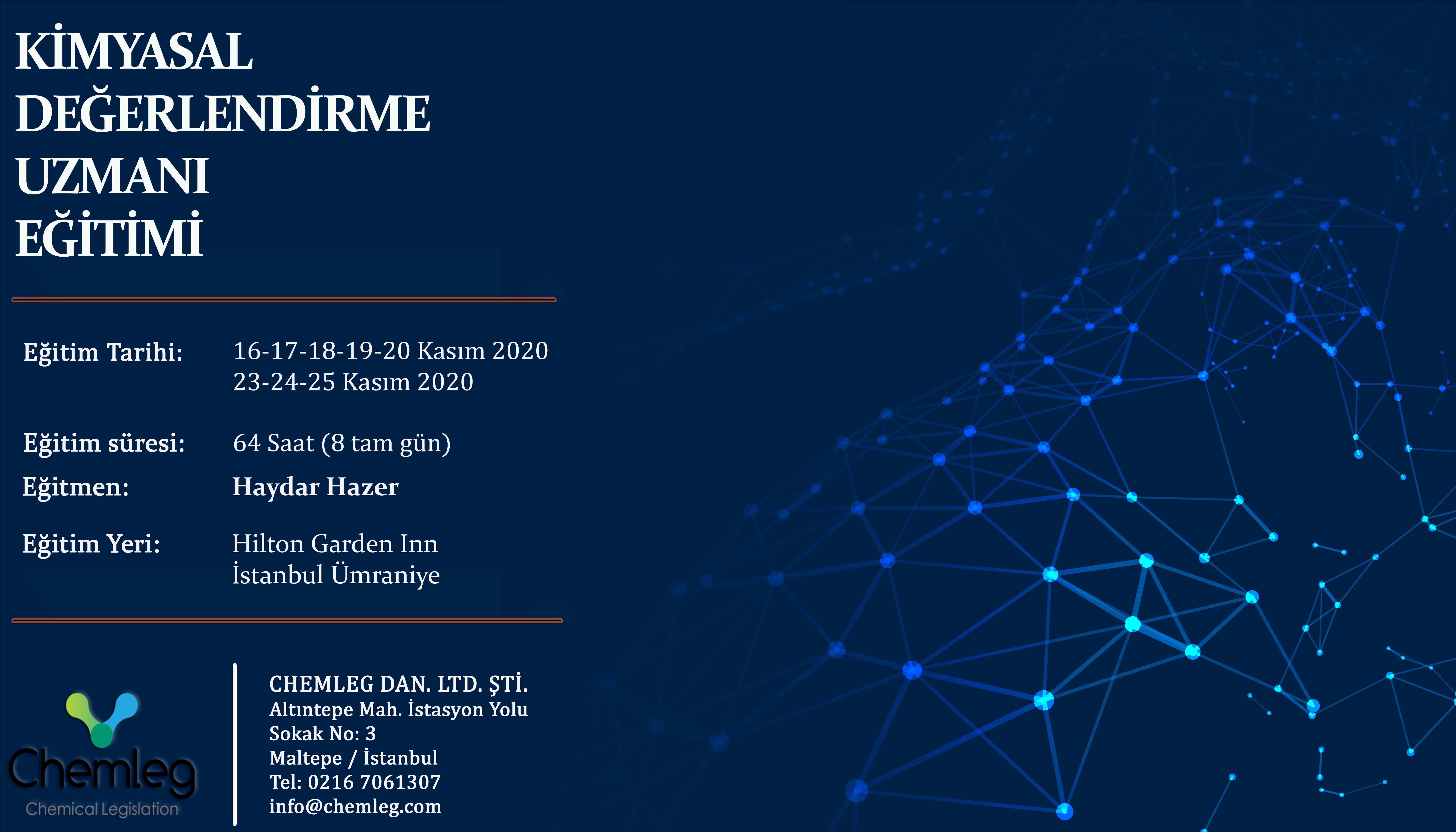 KASIM 2020 - KİMYASAL DEĞERLENDİRME UZMANI (KDU) EĞİTİMİ